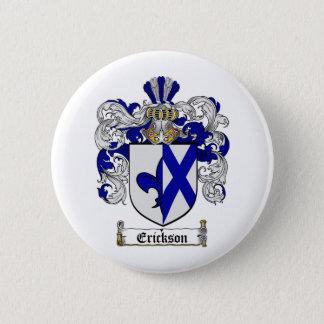 ERICKSON FAMILY CREST -  ERICKSON COAT OF ARMS PINBACK BUTTON