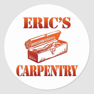 Eric's Carpentry Classic Round Sticker