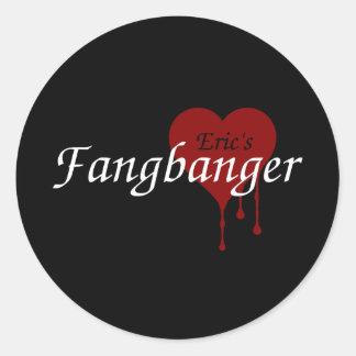 Eric's Fangbanger Classic Round Sticker