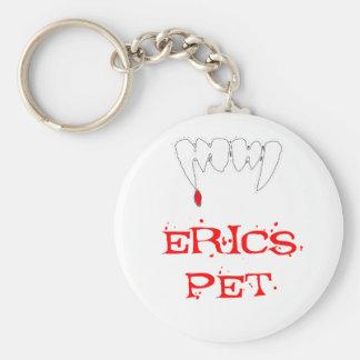 Erics Pet Basic Round Button Keychain