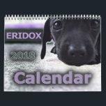 """Eridox Dachshunds 2018 Calendar<br><div class=""""desc"""">Photos of Eridox dachshunds and tachskregers from 2017.</div>"""