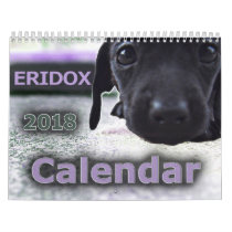 Eridox Dachshunds 2018 Calendar