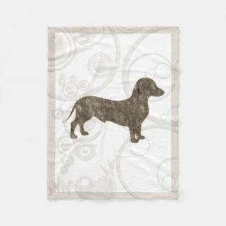 Eridox old style dachshund 30x40 fleece blanket