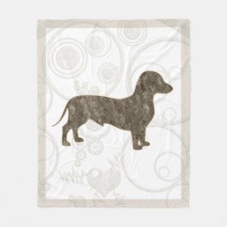 Eridox old style dachshund 50x60 fleece blanket