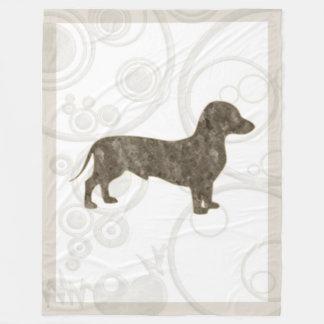 Eridox old style dachshund 60x80 fleece blanket