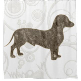 Eridox old style dachshund shower curtain