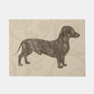 Eridox tan old style dachshund door mat