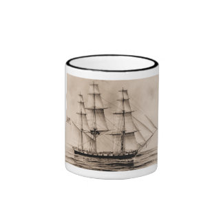 Erie  1814   United States Historic ship Ringer Mug