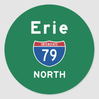 Erie 79 classic round sticker