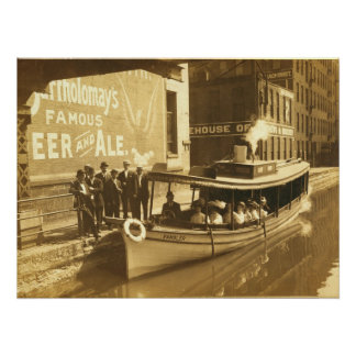 Erie Canal at Exchange St in downtonw Rochester NY Posters