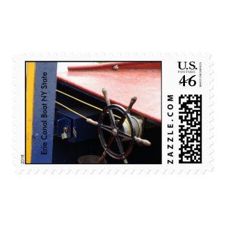 Erie Canal Boat NY State stamp
