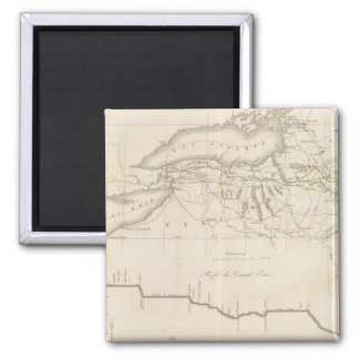 Erie Canal 2 Inch Square Magnet