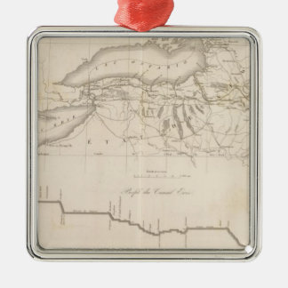 Erie Canal Metal Ornament