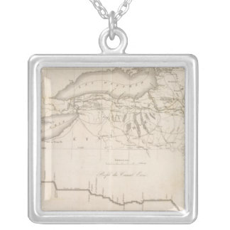 Erie Canal Silver Plated Necklace