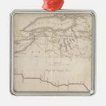 Erie Canal Square Metal Christmas Ornament