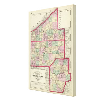 Erie, Crawford, condados de Venango Impresión En Lienzo