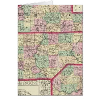 Erie, Crawford, condados de Venango Tarjeta De Felicitación