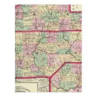 Erie, Crawford, Venango counties Postcard