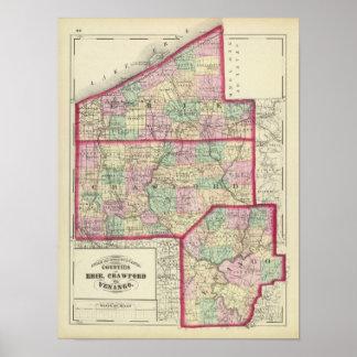 Erie, Crawford, Venango counties Poster