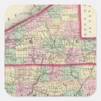 Erie, Crawford, Venango counties Square Sticker
