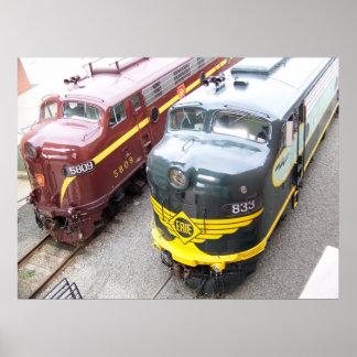 ERIE E8A 833 and PRR E8A 5809 at Steamtown Print