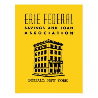 Erie Federal Savings & Loan Postcard