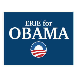 ERIE for Obama custom your city personalized Postcard
