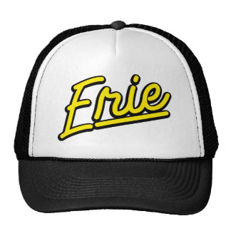 Erie in yellow trucker hat