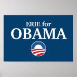 ERIE para el personalizado de Obama su ciudad pers Impresiones