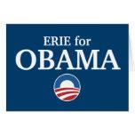 ERIE para el personalizado de Obama su ciudad pers Tarjetas