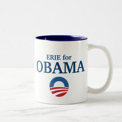 ERIE para el personalizado de Obama su ciudad pers Taza