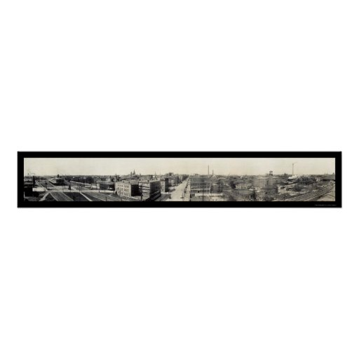 Erie, Pennsylvania Grand Panoramic Photo 1912 Poster