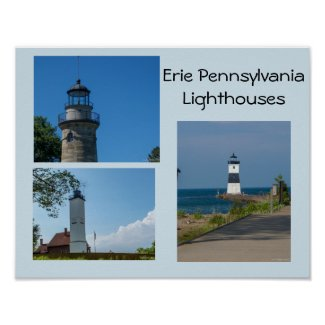 Erie Pennsylvania Lighthouses Poster