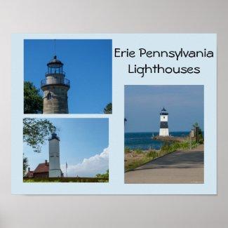 Erie Pennsylvania Lighthouses Poster