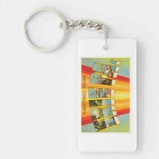 Erie Pennsylvania PA Old Vintage Travel Souvenir Keychain