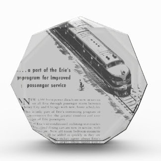 Erie Railroad 1948 New Diesel Locomotives Acrylic Award