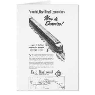 Erie Railroad 1948 New Diesel Locomotives Greeting Cards
