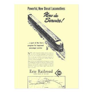 Erie Railroad 1948 New Diesel Locomotives Postcard