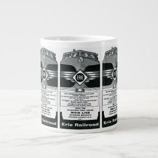 Erie Railroad Suburban Time Tables Cover 1958 Large Coffee Mug