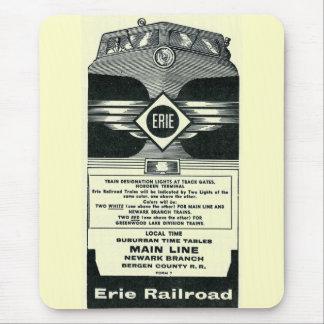 Erie Railroad Suburban Time Tables Cover 1958 Mousepad