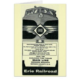 Erie Railroad Suburban TimeTables Cover 1958 Card