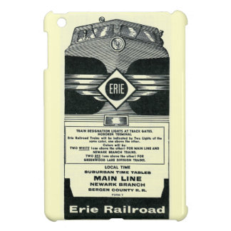 Erie Railroad Suburban TimeTables Cover 1958 iPad Mini Cover