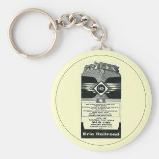 Erie Railroad Suburban TimeTables Cover 1958 Key Chain