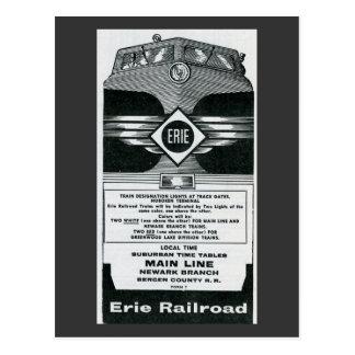 Erie Railroad Suburban TimeTables Cover 1958 Postcard