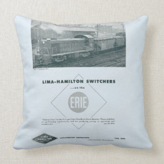 Erie Railroad Uses Lima - Hamilton Diesels Pillow