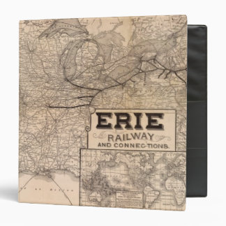 Erie Railway and connections 3 Ring Binder