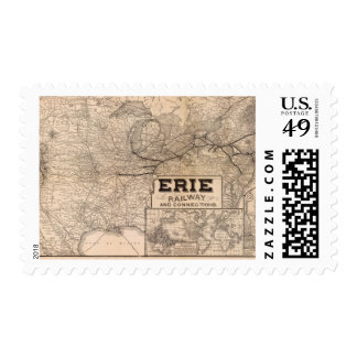 Erie Railway and connections Postage