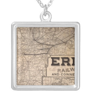Erie Railway and connections Silver Plated Necklace