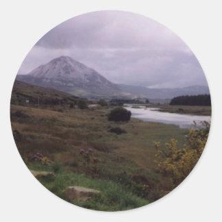 Erigal, Donegal, Irlanda Etiqueta Redonda