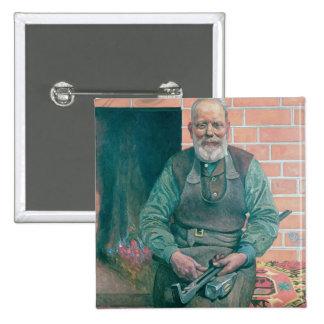 Erik Erikson, The Blacksmith 2 Inch Square Button
